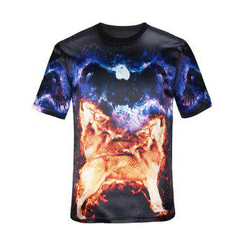 3D Animal Graphic Short Sleeves T-Shirt