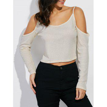 Cropped Open Shoulder T-Shirt