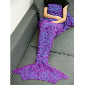Warmth Crochet Sleeping Bag Wrap Mermaid Blanket