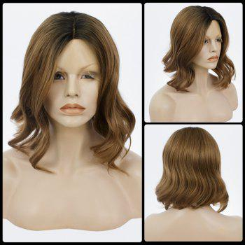 Medium Bob Curly Centre Parting Lace Front Human Hair Wig