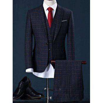 Checked Blazer Three Piece Suit in Slim Fit
