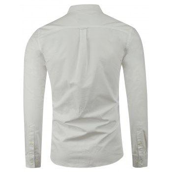 Long Sleeves Embroidered Button Down Shirt - M M