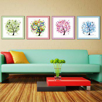 4PCS/Set Four Season Tree DIY Beads Painting Cross Stitch