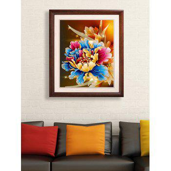 Peony Flower Embroidery DIY Beads Painting Cross Stitch
