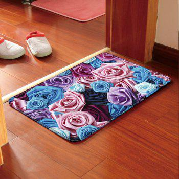 Floral Print Antislip Bathroom Kitchen Door Entrance Carpet