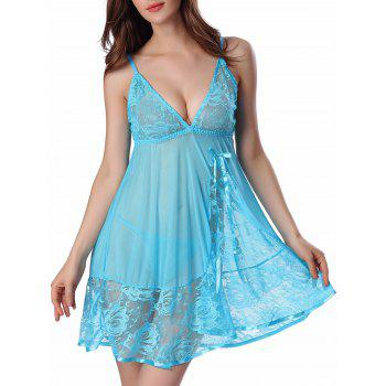 Cami Floral Lace Panel Babydoll