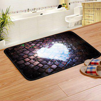 Heart Pattern Antislip Door Entrance Bathroom Rug - COLORMIX 40CM*60CM
