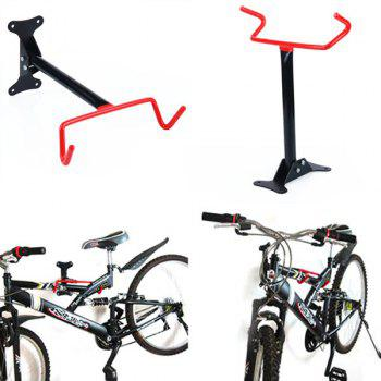 Portable Wall Fixed Hanger Bicycle Rack - RED WITH BLACK RED/BLACK