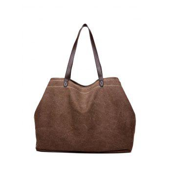Leisure Stitching Canvas Shoulder Bag