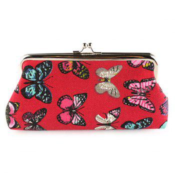 Butterfly Printed Clutch Bag