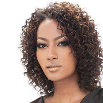 Colormix Medium Side Parting Curly Synthetic Hair Wig - COLORMIX COLORMIX