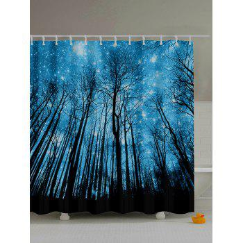 Forest Landscape Print Polyester Bath Shower Curtain