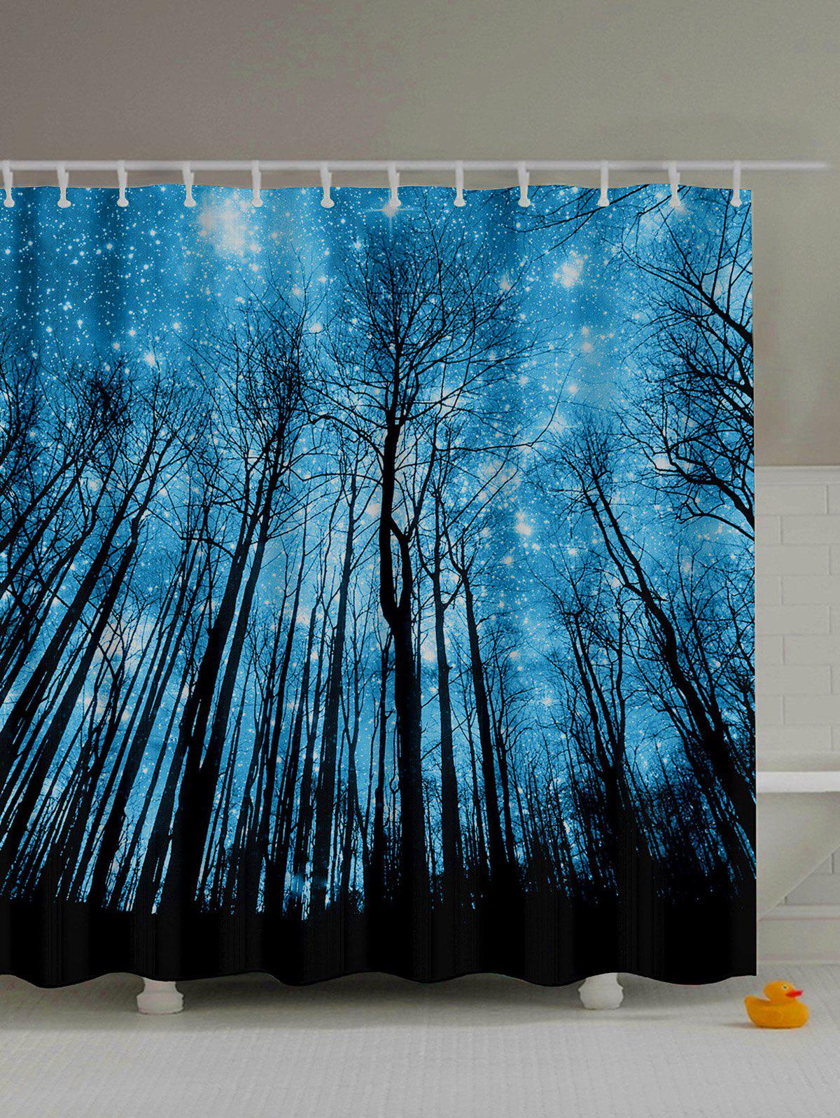 Forest Landscape Print Polyester Bath Shower Curtain natural landscape waterfall print waterproof shower curtain