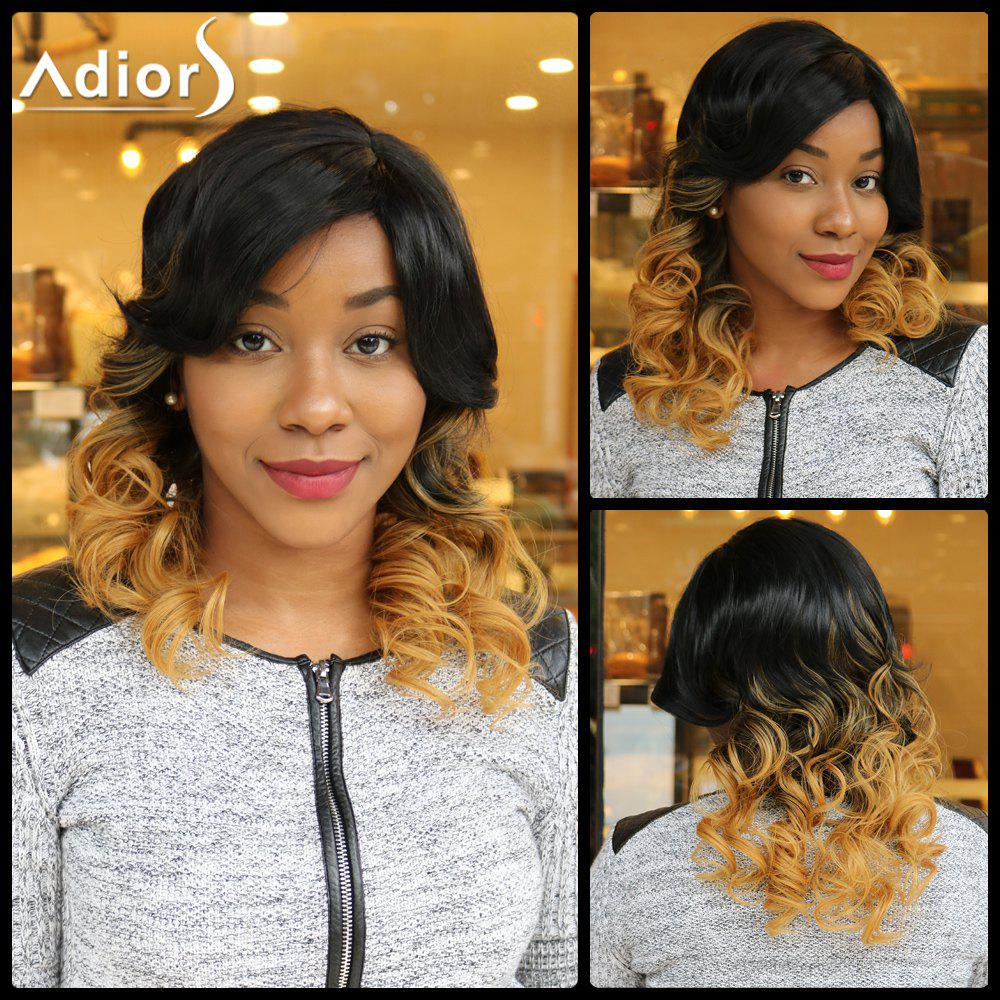Adiors Side Parting Medium Colormix Wavy Synthetic Wig adiors medium ombre side parting wavy shaggy synthetic wig