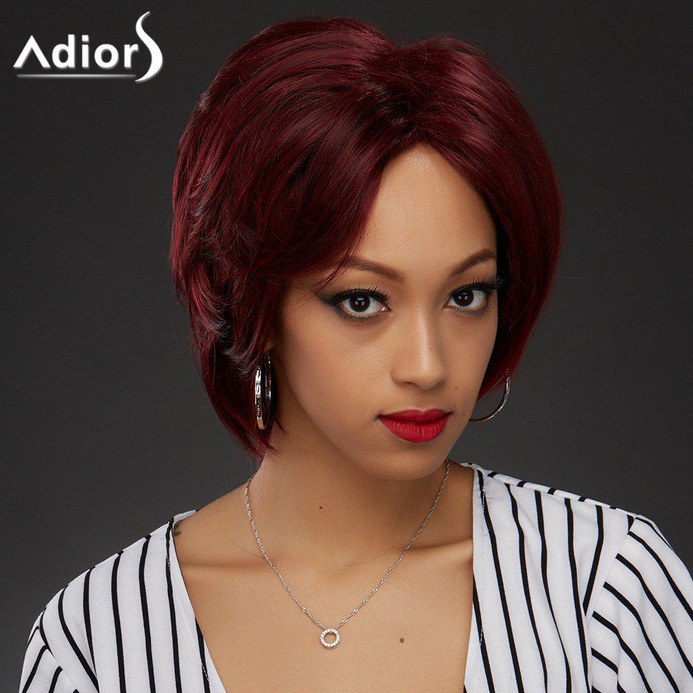 Adiors Side Bang Shaggy Layered Straight Bob Synthetic WigHair<br><br><br>Color: COLORMIX