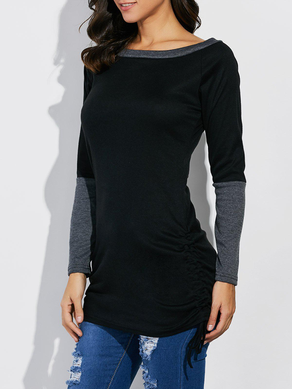 Image of Boat Neck Color Block Tee
