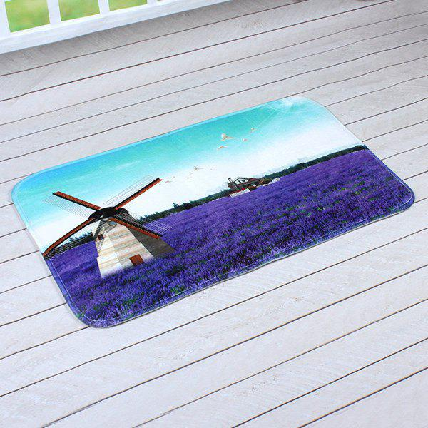 Lavender Antislip Bathroom Door Entrance Fabric CarpetHome<br><br><br>Size: 40CM*60CM<br>Color: BLUE + PURPLE