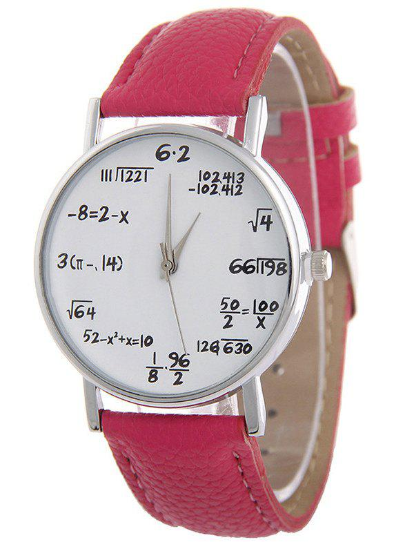PU Leather Watchband Quartz WatchWatches<br><br><br>Color: TUTTI FRUTTI