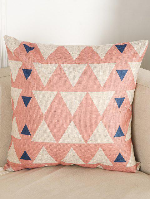 Triangle Print Chair Backrest Throw Linen Pillowcase - COLORMIX