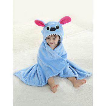 Coral Fleece Cartoon Animal Shape Hooded Blanket For Kids