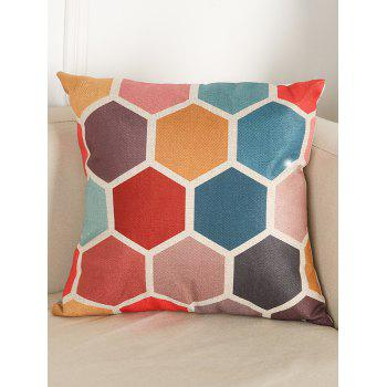 Geometry Pattern Chair Backrest Linen Pillowcase