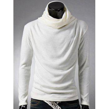 Buy Brief Style Long Sleeve High Neck T-Shirt WHITE