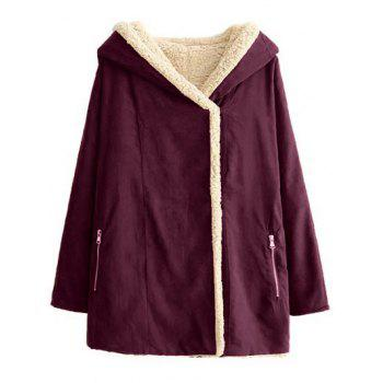 Hooded Fleece Lined Swing Coat
