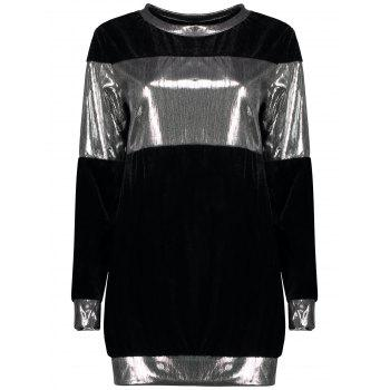 Metallic Color Block Sweatshirt