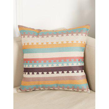 Stripe Pattern Office Seat Cushion Linen Pillowcase
