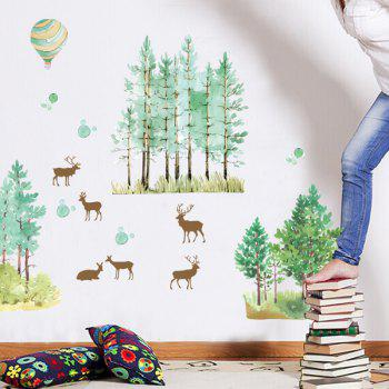 Deer Tree Removable Wall Stickers For Kids Room
