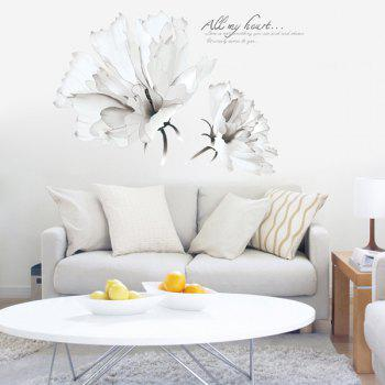 Concise Style Removable Flower Wall Stickers