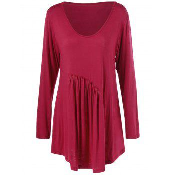 Pleated Plus Size Tunic T-Shirt