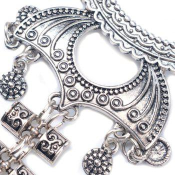 Longevity Lock Pendant Sweater Chain - SILVER