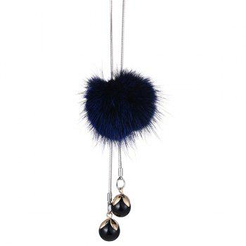 Fuzzy Ball Pendant Sweater Chain