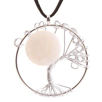 Fake Gemstone Tree of Life Necklace