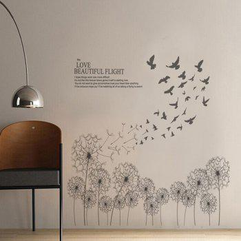Concise Style Dandelion Living Room Wall Stickers