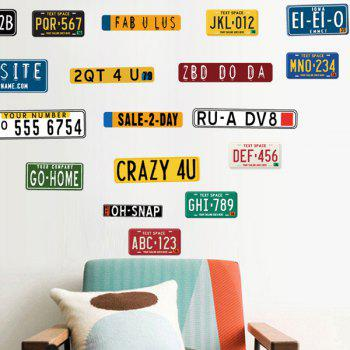 Creative Car Number Living Room Wall Stickers