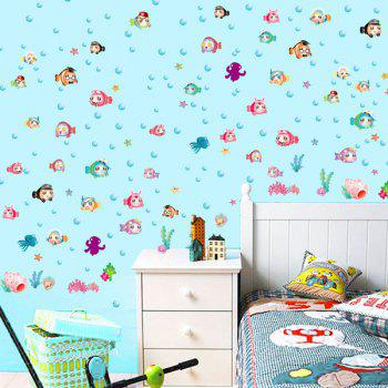 Sea Fish Kids Room Cartoon Wall Stickers