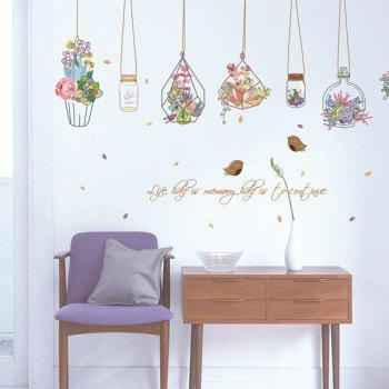 Hanging Flower Vase Living Room Wall Stickers