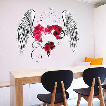 Flower Heart Wings Room Decoration Wall Stickers