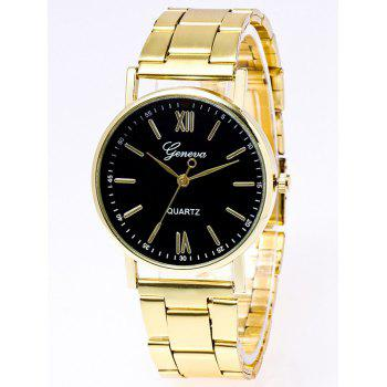 Roman Numerals Stainless Steel Watch