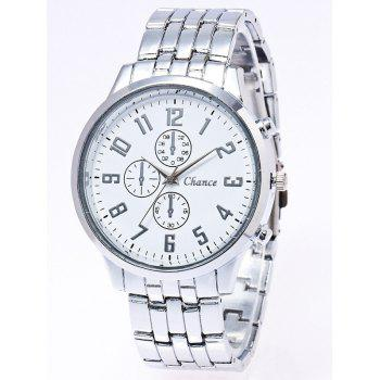 Stainless Steel Watchband Business Quartz Watch
