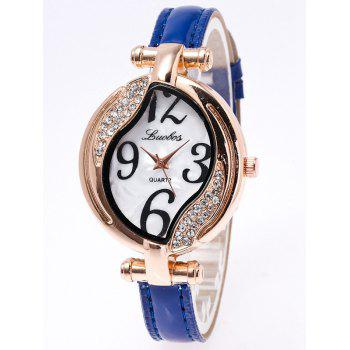 Rhinestone Artificial Leather Watch