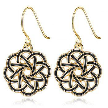 Floral Hollow Out Hook Earrings