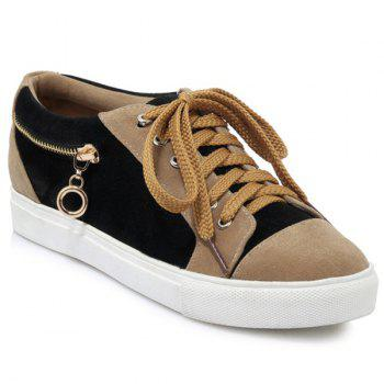 Suede Zipper Athletic Shoes