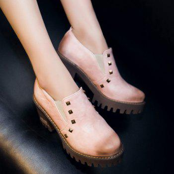 Rivets Elastic Band Pumps - PINK 38