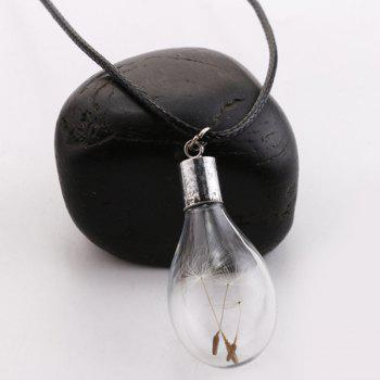 Dandelions Glass Bulb Pendant Necklace