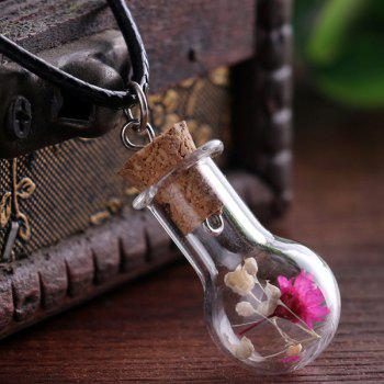 Dried Floral Glass Bottle Necklace