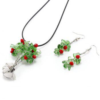 Floral Faux Crystal Jewelry Set