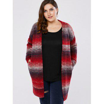 Plus Size Knitted Long Cardigan